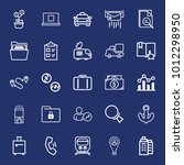 business outline vector icon... | Shutterstock .eps vector #1012298950
