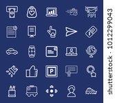 business outline vector icon...   Shutterstock .eps vector #1012299043