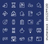 business outline vector icon... | Shutterstock .eps vector #1012299100
