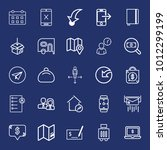 business outline vector icon... | Shutterstock .eps vector #1012299199