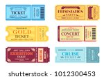 best party gold ticket  cinema... | Shutterstock .eps vector #1012300453