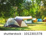 camping on the grass in the... | Shutterstock . vector #1012301578