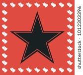 star icon flat. simple black...
