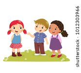 illustration of a boy... | Shutterstock .eps vector #1012303966