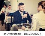 romantic couple is having...   Shutterstock . vector #1012305274