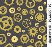 seamless pattern of golden... | Shutterstock .eps vector #1012307410