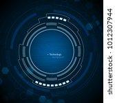 sci fi futuristic user...   Shutterstock .eps vector #1012307944