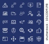 business outline vector icon... | Shutterstock .eps vector #1012309198