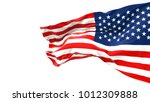 flapping flag usa | Shutterstock . vector #1012309888
