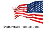 flapping flag usa | Shutterstock . vector #1012310188