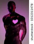 low poly male body cut out... | Shutterstock .eps vector #1012311478