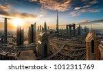 sunrise over the skyline of... | Shutterstock . vector #1012311769
