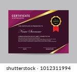 modern certificate vector | Shutterstock .eps vector #1012311994