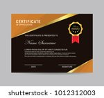 modern certificate vector | Shutterstock .eps vector #1012312003