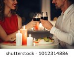 cropped photo of young lovers... | Shutterstock . vector #1012314886