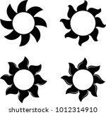 tribal tattoo sun design vector ... | Shutterstock .eps vector #1012314910