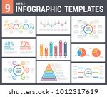9 infographic templates  set 2  ... | Shutterstock .eps vector #1012317619