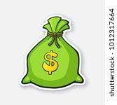 vector illustration. green bank ...   Shutterstock .eps vector #1012317664