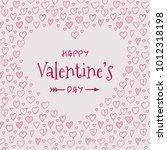 valentine's day   card with... | Shutterstock .eps vector #1012318198