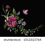 embroidery floral native... | Shutterstock .eps vector #1012322764