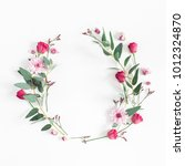 flowers composition. wreath... | Shutterstock . vector #1012324870