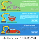 robotic assembly line cars... | Shutterstock .eps vector #1012325923