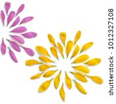 violet  yellow petals pattern....   Shutterstock . vector #1012327108
