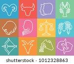 zodiac vector signs  set of... | Shutterstock .eps vector #1012328863