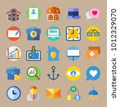 icon set about digital... | Shutterstock .eps vector #1012329070