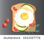 an illustration of a fried egg...   Shutterstock . vector #1012337776