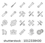 simple set of tuning tools... | Shutterstock .eps vector #1012338430