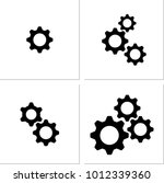 setting icon  gear  user... | Shutterstock .eps vector #1012339360