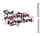 find inspiration everywhere... | Shutterstock .eps vector #1012339930