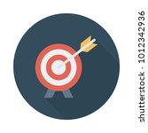 target aim success  | Shutterstock .eps vector #1012342936