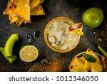 mexican beverage  spicy... | Shutterstock . vector #1012346050