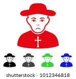 pitiful christian priest vector ... | Shutterstock .eps vector #1012346818