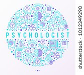 psychologist concept in circle... | Shutterstock .eps vector #1012349290
