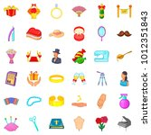 marriage of convenience icons... | Shutterstock .eps vector #1012351843