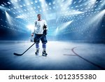 ice hockey player on the grand... | Shutterstock . vector #1012355380