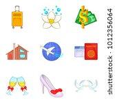 wedding journey icons set.... | Shutterstock .eps vector #1012356064