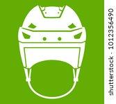 hockey helmet icon white... | Shutterstock .eps vector #1012356490