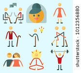 icons set about human with... | Shutterstock .eps vector #1012356880