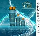 3d realistic cosmetic bottle... | Shutterstock .eps vector #1012357738