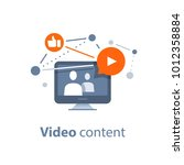 video blogging concept ... | Shutterstock .eps vector #1012358884