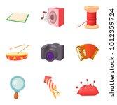 best hobby icons set. cartoon...   Shutterstock .eps vector #1012359724