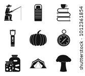 favorite pastime icons set.... | Shutterstock .eps vector #1012361854