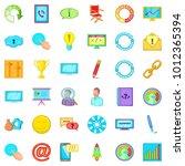 steering icons set. cartoon set ... | Shutterstock .eps vector #1012365394