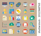 icon set about marketing with... | Shutterstock .eps vector #1012368763