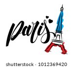 paris and eiffel tower logo... | Shutterstock .eps vector #1012369420