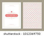 happy valentines day greeting... | Shutterstock .eps vector #1012369750